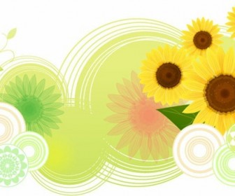 Sunflower Abstract Vector Illustration