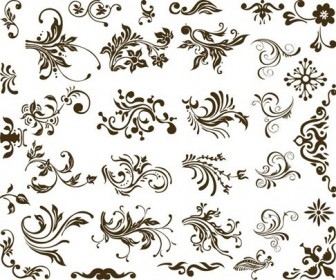 Set of Vector Floral Design