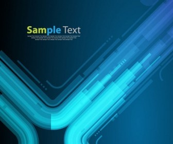 Technology Style Blue Abstract Background Vector