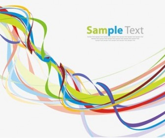Colorful Wave Line Abstract Background Vector
