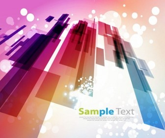 Abstract Design with Bokeh Light Background Vector