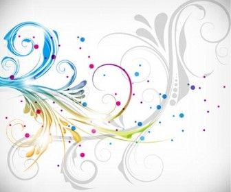 Colorful Floral Design Vector Illustration