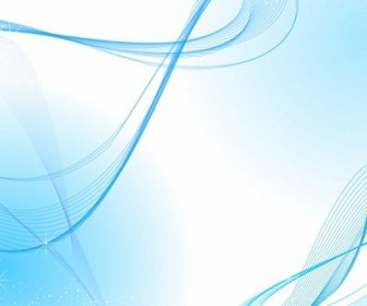 Abstract Vector Background with Blue Wave Line