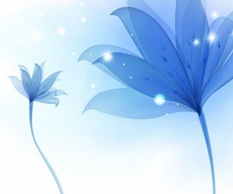 Abstract Blue Flower Background Vector