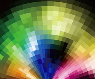 Abstract Radial Colorful Mosaic Background Vector