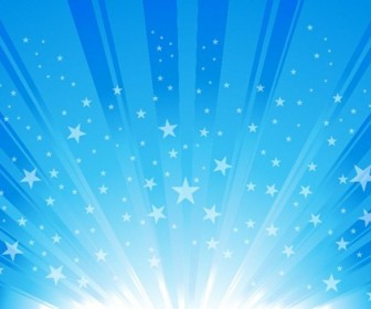 Exploding Star Burst Background Vector Graphic