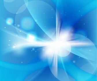 Abstract Cold Blue Background Vector