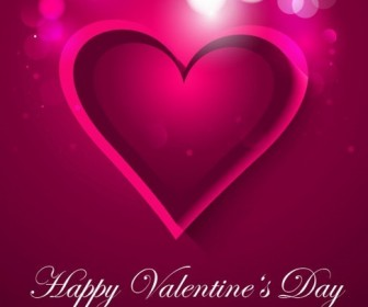 Heart Valentines Day Card Vector Background