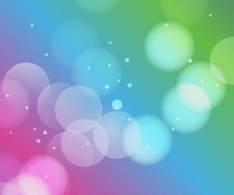 Designed Colorful Bokeh Background Vector Graphic
