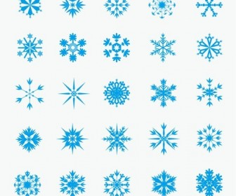 Ice Crystal Snowflakes Vector Graphic