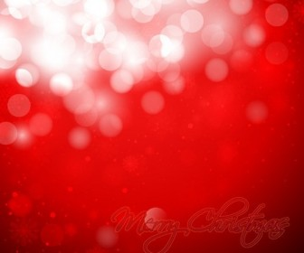 Christmas Snowflakes Red Background Vector Graphic