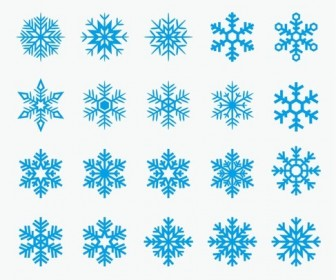 Blue Snowflakes Vector Set