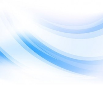 Abstract Blue Curve Vector Background