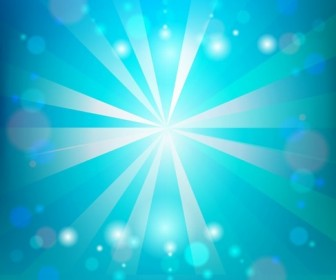 Sunlight on Blue Sky Vector Illustration
