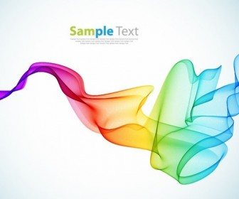 Abstract Colorful Smoke Background Vector Art