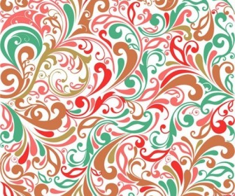 Floral Design Background Vector Illustration