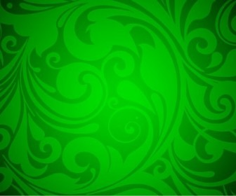 Floral Background Green Vector Graphic