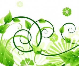 Green Floral Vector Illustration