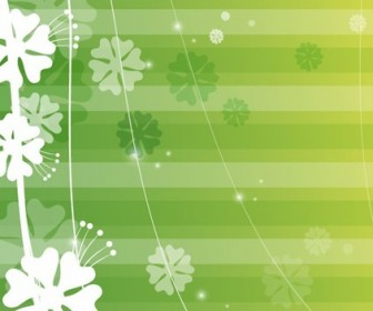 Green Background Abstract Vector Graphic