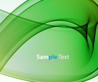 Abstract Green Waves Background Vector Illustration
