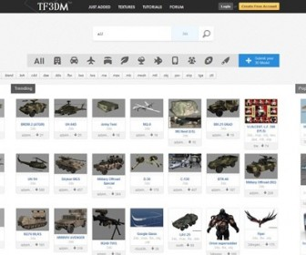 Find Free 3D Models on TF3DM.com