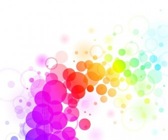 Abstract Colorful Dots Backgrond Vector Graphic