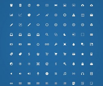 Handcrafted Micro Icons PSD and Vector