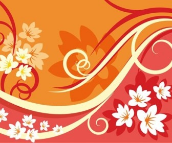 Flower Background Element For Design Vector Illustration