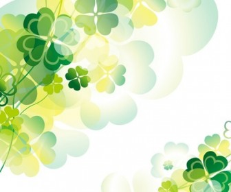Abstract Green Floral Design Vector Illustration