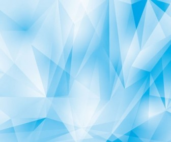 Abstract Geometrical Blue Background Vector Graphic