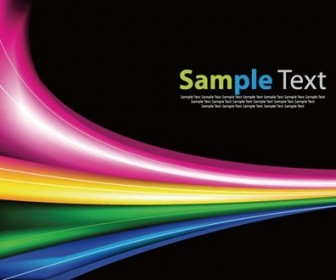 Abstract Rainbow Background Vector Garphic