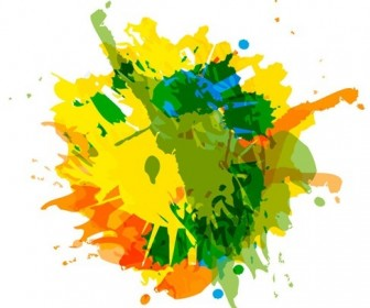 Abstract Ink Splash Background Vector Graphic