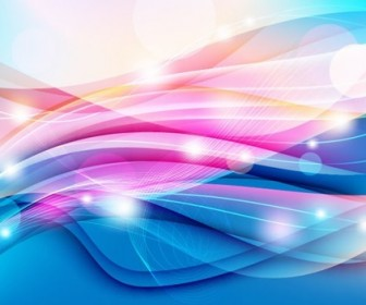 Colorful Wave on Light Background Vector Graphic