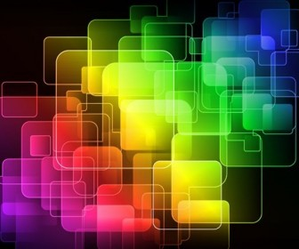 Abstract Colorful Squares Editable Vector Graphic