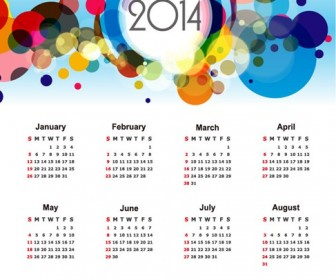 Calendar for 2014 Vector Illustration