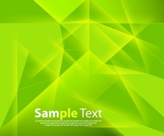 Abstract Green Polygonal Background Vector Illustration