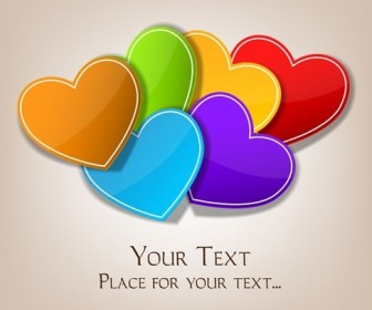 Valentines Day Colorful Hearts Background Vector
