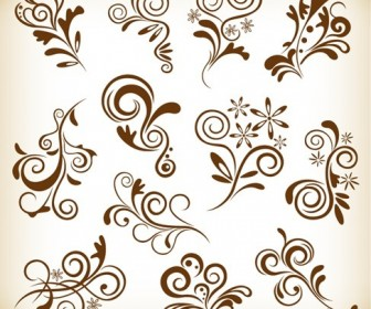 Set Vintage Floral Elements for Your Design