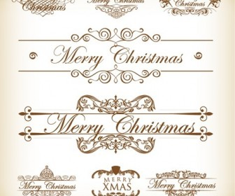 Christmas Decoration Calligraphic and Typographic Elements