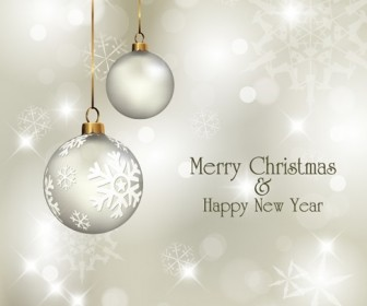 Christmas and Happy New Year Vector Illustration