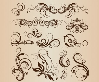 Vector Collection of Design Floral Decorative Elements