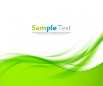 Green Vector Waves Abstract Background