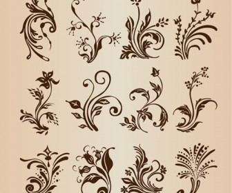 Collection of Vector Floral Design Elements