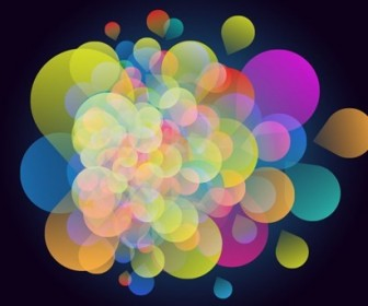 Abstract Colorful Design on Dark Background Vector Illustration