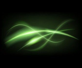 Abstract Green Dark Background Vector Illustration