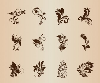 Floral Patterns for Design Vector Set