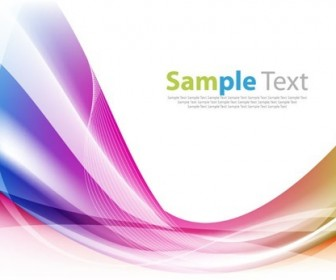 Colorful Abstract Design Wave Background Vector Illustration