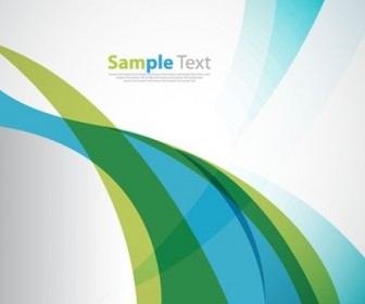 Abstract Blue Green Soft Wave Background Vector