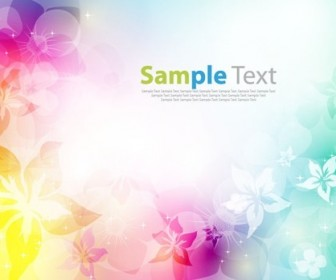 Colorfully Abstract Flower Design Background Vector Illustration
