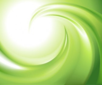 Abstract Green Blur Swirl Vector Background